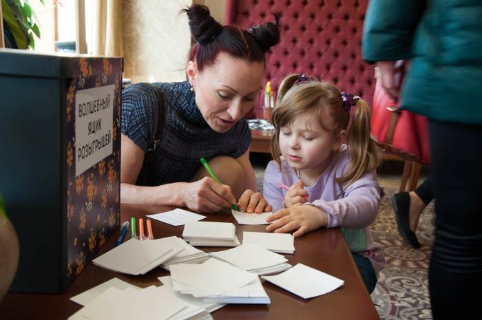 На эко-маркете разыгрывали призы среди посетителей. Фото Анастасии Вереск