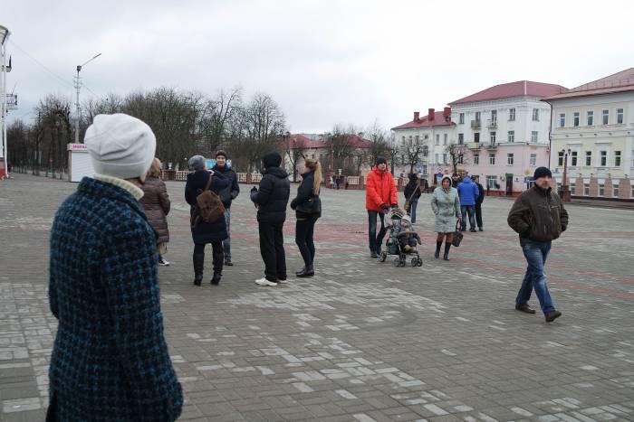 На площади в 12.31. Фото Анастасии Вереск
