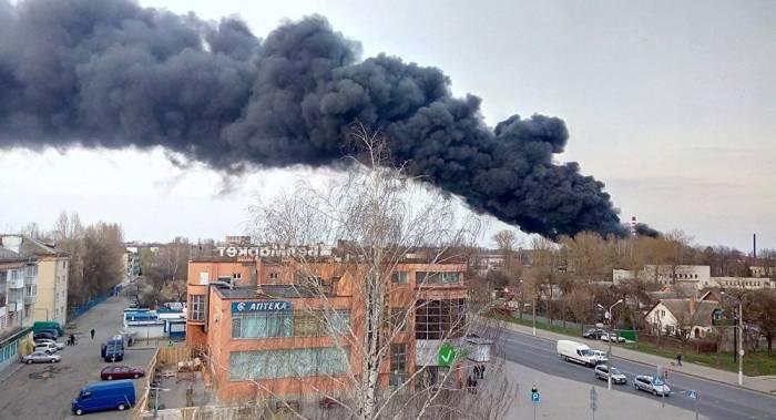 пожар Могилев