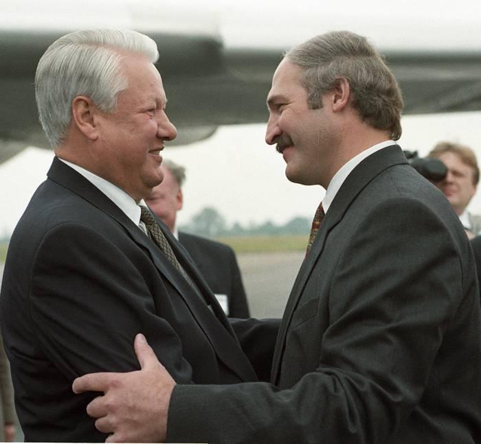 Ельцин и Лукашенко