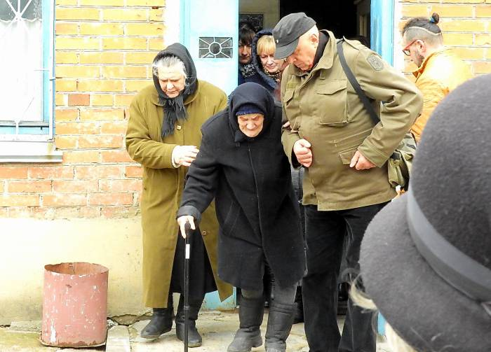 Старенькая мама Михаила Павлова. Фото Светланы Васильевой