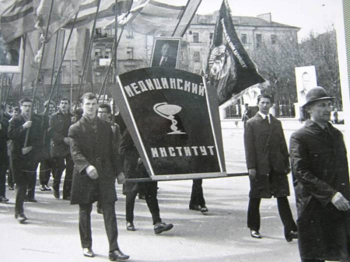 1 мая в Витебске в 1968 году. Фото evitebsk.com