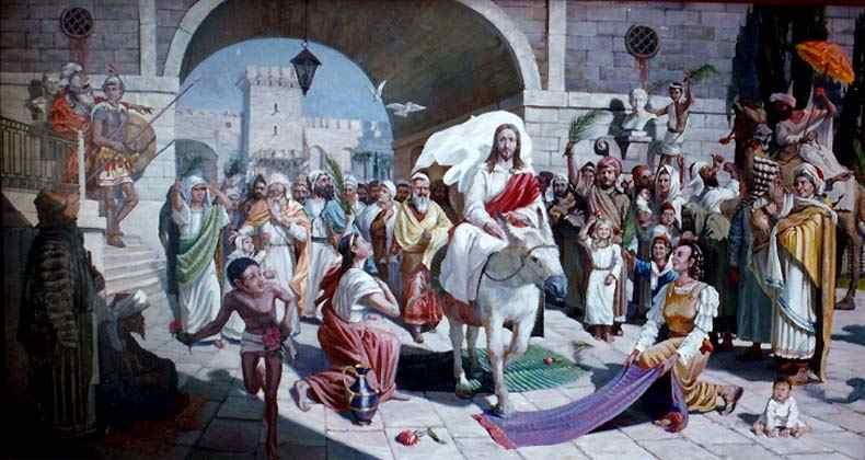У входа в Иерусалим сына Господня приветствовали пальмовыми ветвями. Фото cirota.ru