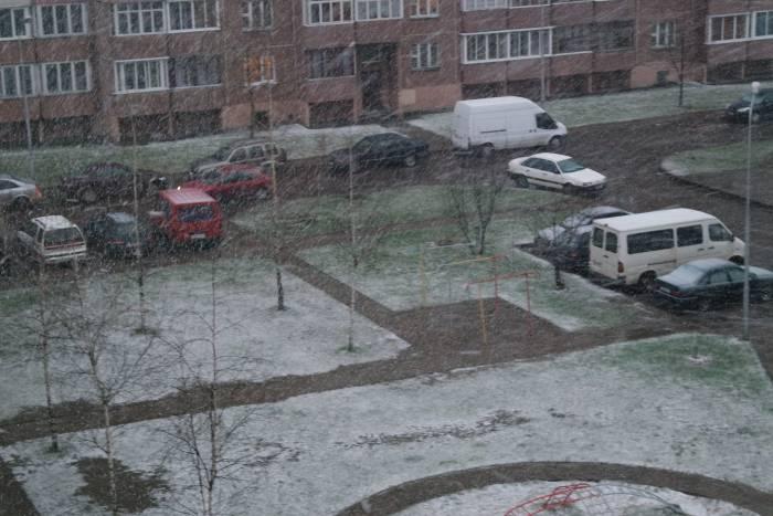Снежный апрель. Фото Анастасии Вереск