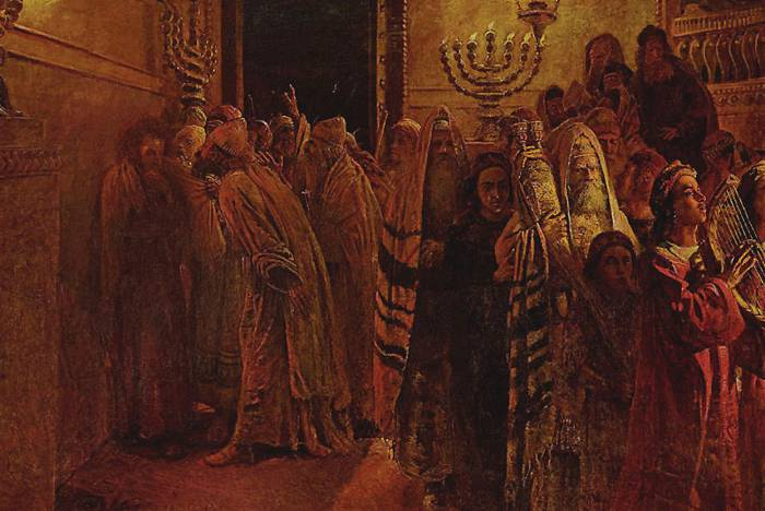Суд синедриона. Повинен смерти! Н. Ге. 1892 г. Репродукция: http://biblia-zhivopis.ru/?p=898