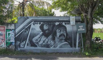 Граффити на Бали. Фото Артем Бурж