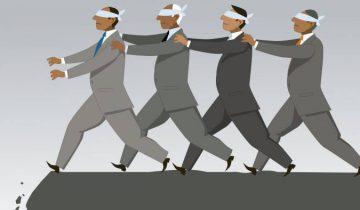 Свидетели Иеговы: Слепой ведет слепого. Фото: http://www.jw-secrets.ru/2016/05/