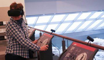 Очки виртуальной реальности в музее Дворца великих князей литовских в Вильнюсе. За 1 евро здесь можно посмотреть как строился замок. Фото Анастасии Вереск