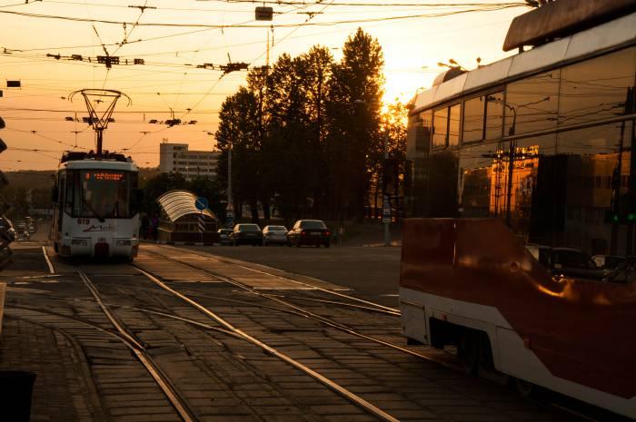 """Современные витебские трамваи гораздо удобнее старых """"буханок"""". Фото Анастасии Вереск"""
