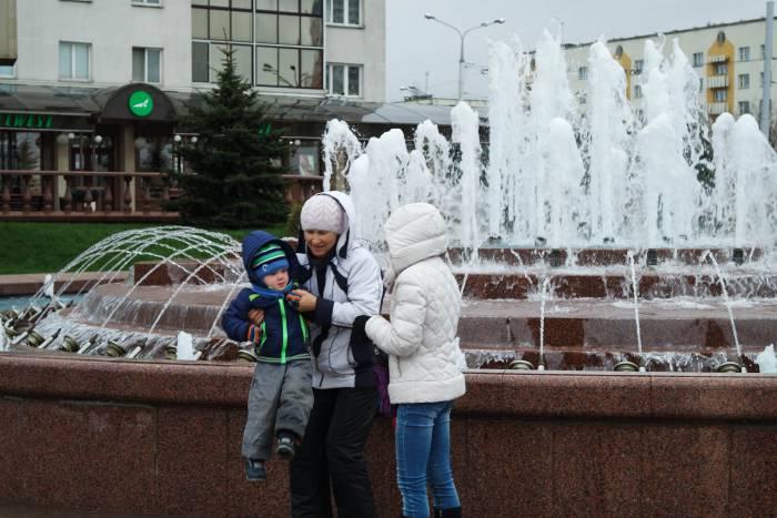 Зато сезон фонтанов открыли! Фото Анастасии Вереск