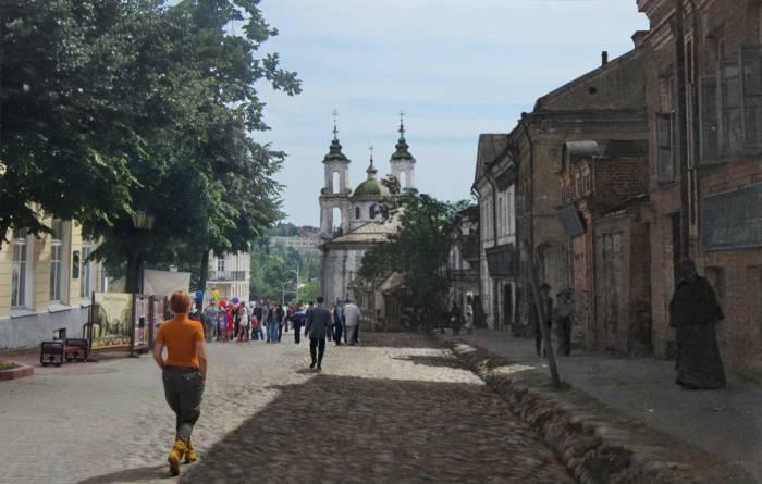 Улица Суворова. Фотопроекция Виктора Борисенкова