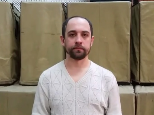 Скриншот из видеообращения Владимира Жолудя