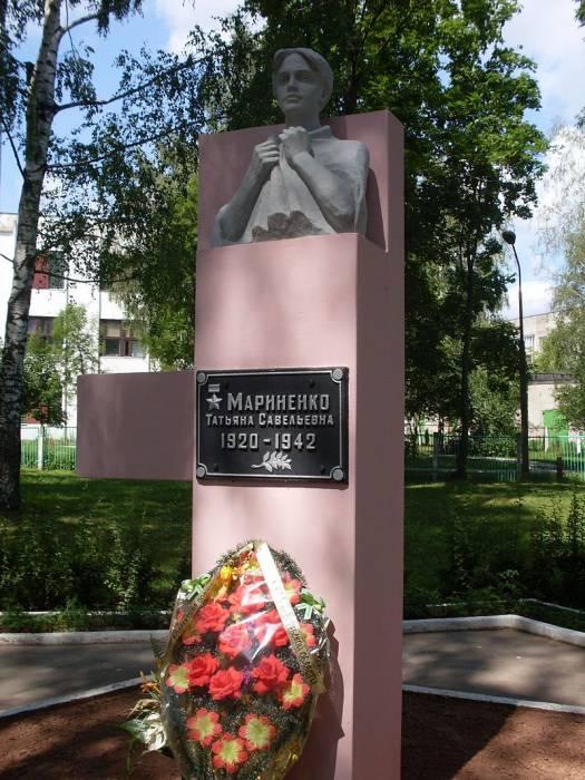 Бюст Татьяны Мариненко в Полоцке. Фото ru.wikipedia.org