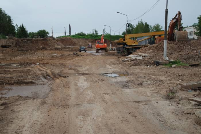 Строительство новой дороги. Фото Владимир Борков