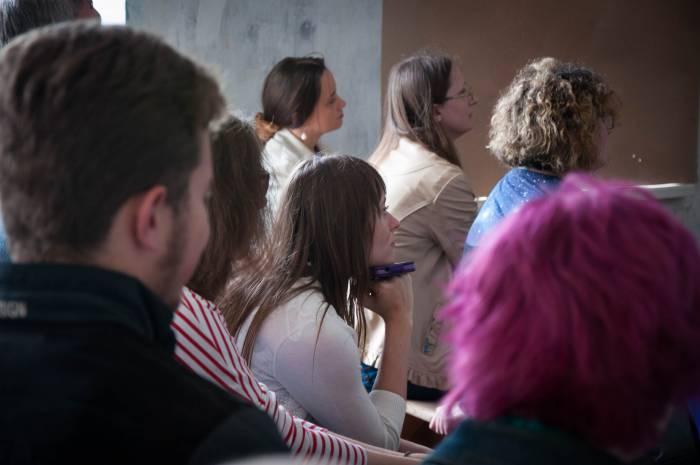 На лекции. Фото Анастасии Вереск