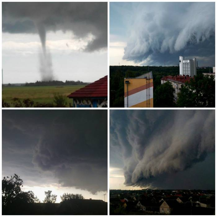 Ураганные тучи просто потрясали воображение. Коллаж Ольга Витебская