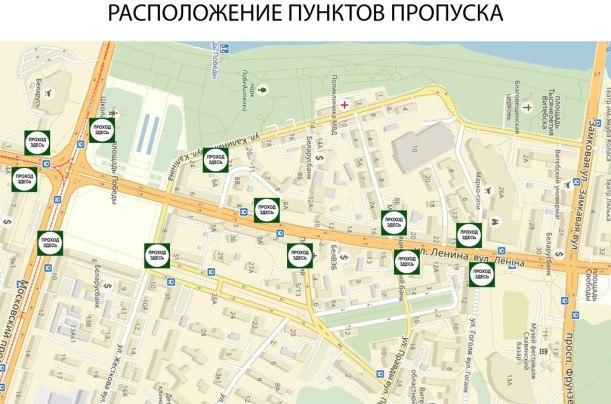 карта ГАИ Витебск