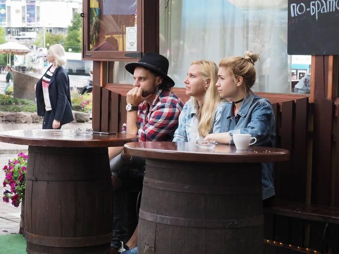 В кафе «Витебский трактир» можно как выпить чашечку кофе, так и сытно поесть. Фото Светланы Васильевой