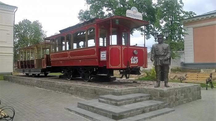 Популярный памятник витебскому трамваю. Фото Анастасии Вереск