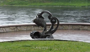 витебск, скульптура, рыбка