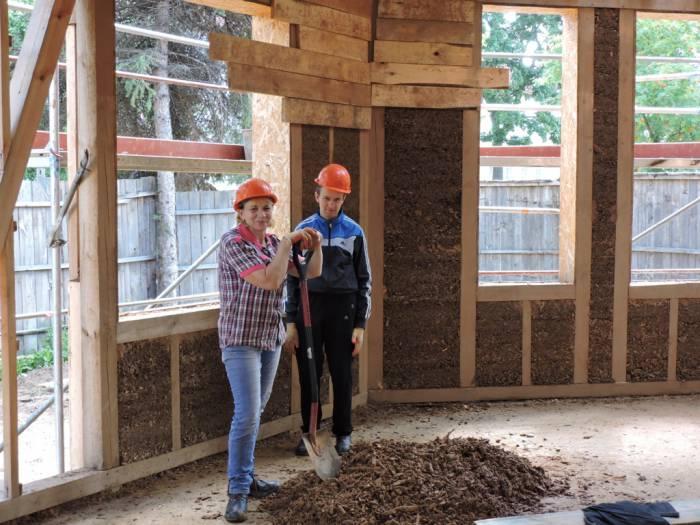 лепель, немецкие волонтеры, эко-дом