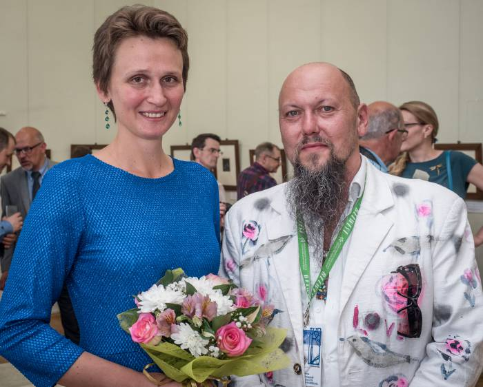 Ольга и Дмитрий - организаторы выставки в нашем городе. Фото Светланы Васильевой