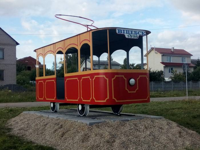 витебск, трамвай, макет