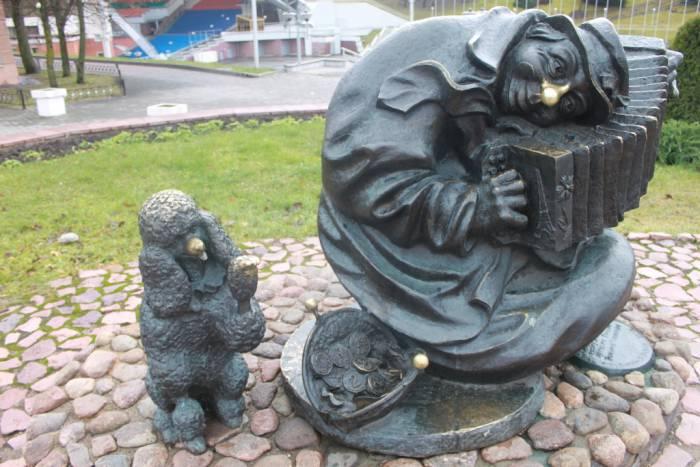 витебск, клоун, скульптура