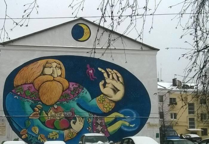Граффити по адресу Коммунистическая, 5. Фото Анастасии Вереск