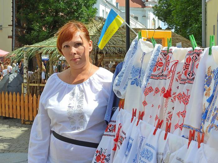 Наталка из Полтавы на «Славянский базар в Витебске» в 2016 году. Фото Светланы Васильевой