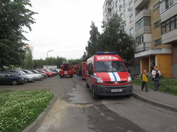 Пожар на московском