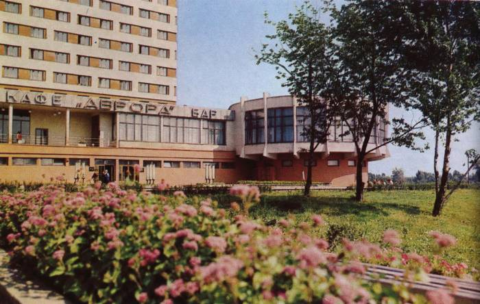 """Ресторан """"Аврора"""" в 80-ых годах. Фото из группы """"Таямніцы Віцебска"""""""