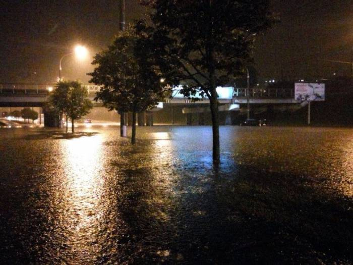 Непогода в Минске. Фото из соцсетей