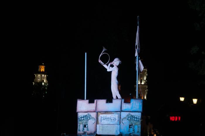 Трубач над ратушей. Фото Анастасии Вереск