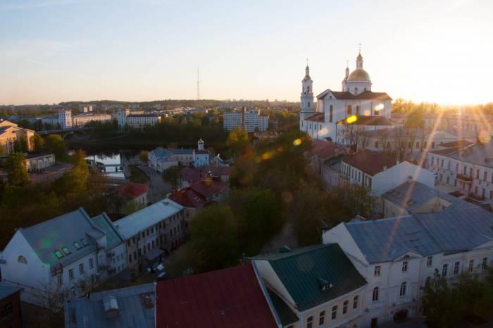 Вид на Витебск с башни Ратуши. Фото Анастасии Вереск