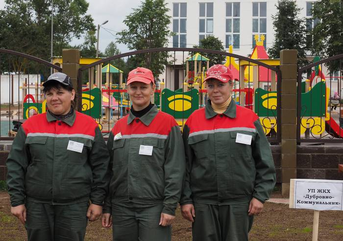 Команда из Дубровно, занявшая III место в конкурсе. Фото Светланы Васильевой