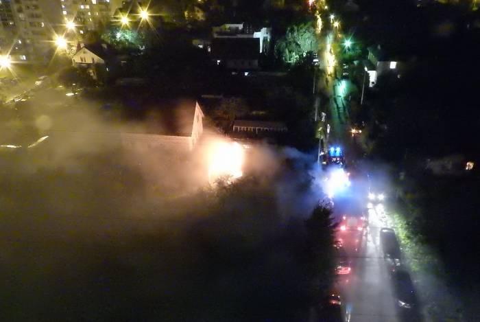 Пожар на улице 1-я Клиническая в Витебске. Фото Светланы Васильевой