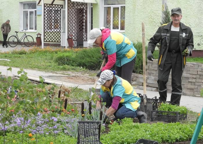 Команда Витебского «Зеленхоза». Фото Светланы Васильевой