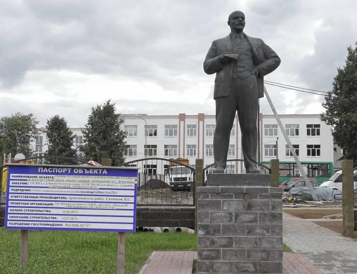 Стратегический объект реконструкции к «Дожинкам-2017» – центральная площадь Дубровно. Фото Светланы Васильевой