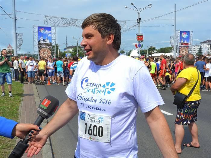 Вадим Девятовский на «Славянском забеге» в Витебске. 17 июля 2016 года. Фото Светланы Васильевой