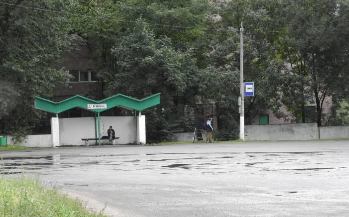 Конечная остановка общественного транспорта «Речной порт». Фото Светланы Васильевой