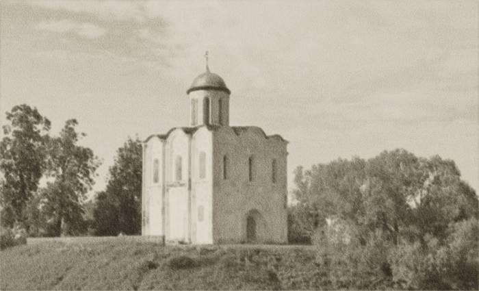 Предположительный вид Борисоглебской церкви в 12- 13 веках. Фото предоставлено Виктором Борисенковым