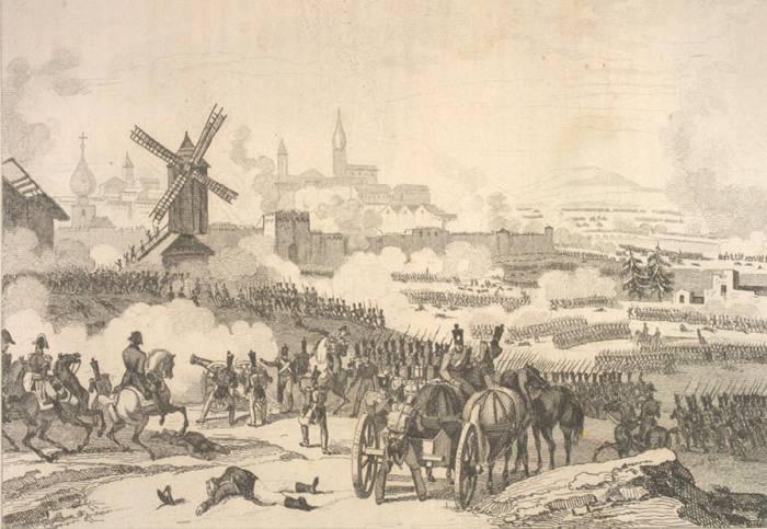 Французские колонны штурмуют Смоленск. Фото ru.wikipedia.org