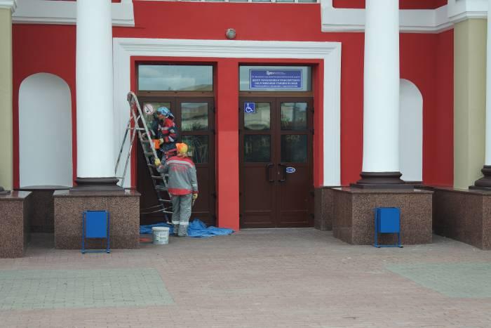 Железнодорожный вокзал в Полоцке. Фото Владимир Борков