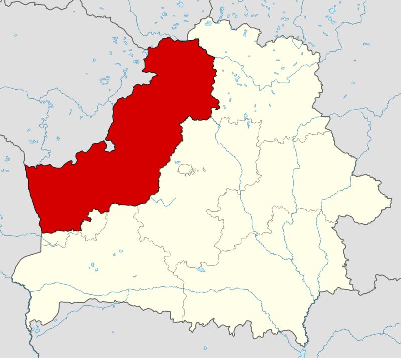 Вейшнория на карте Беларуси. Источник ru.wikipedia.org. Автор Yozas gubka