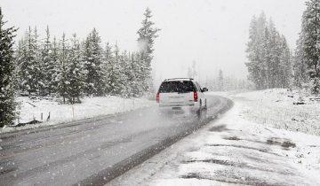 дорога зима авто
