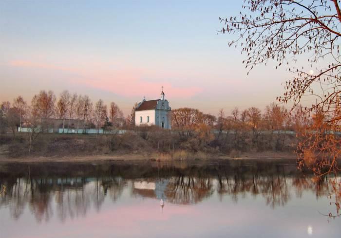 церковь, витебск, фотопроекция, борисенков