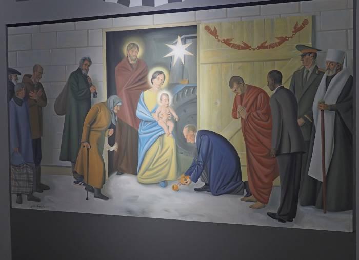 На фреске - сюжете поклонения волхвов новорожденному Иисусу. Фото Светланы Васильевой