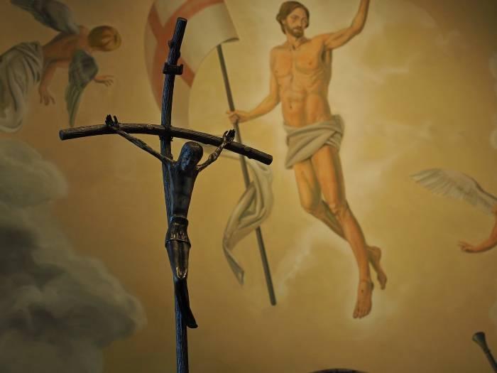 Скульптура «Распятие» - образ Иисуса Христа, распятый на современной металлоконструкции. Фото Светланы Васильевой