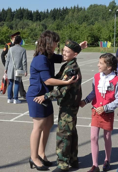 Первое сентября для вновь прибывших кадет – это начало нового этапа жизни. Фото Светланы Васильевой